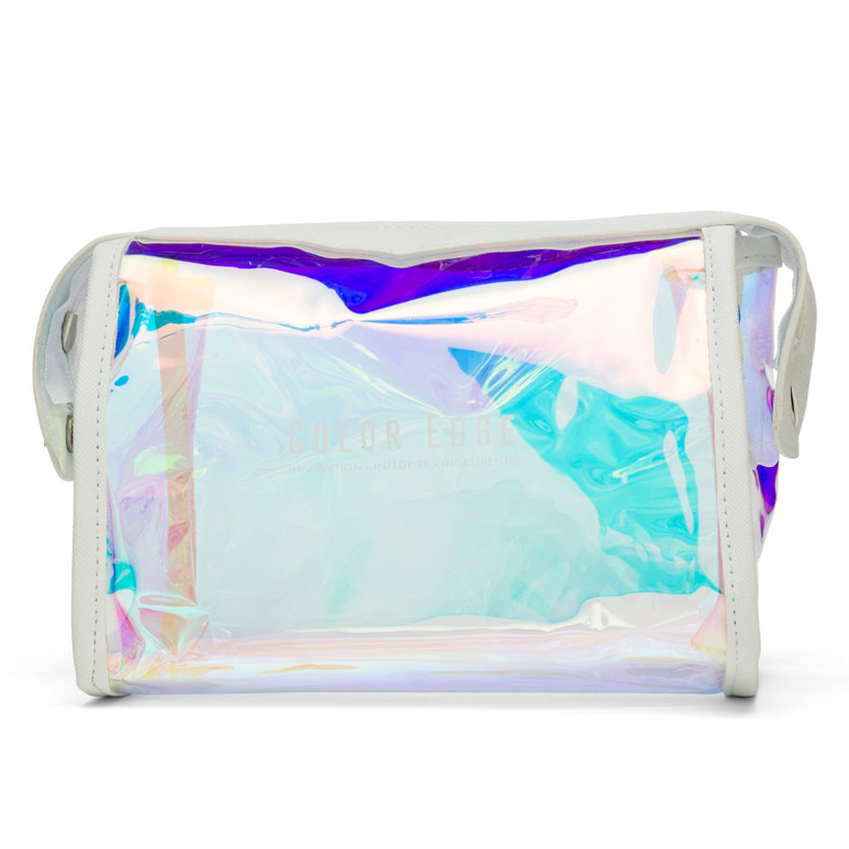 Large Iridescent Cosmetic Pouch